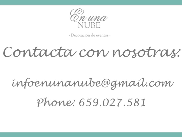 Contacta con nosotras: 659.027.581 - infoenunanube@gmail.com