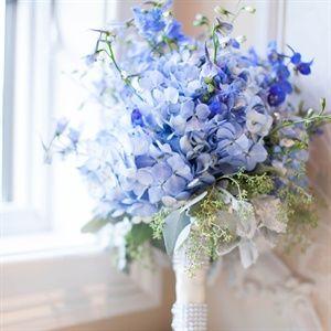 ramo novia azul