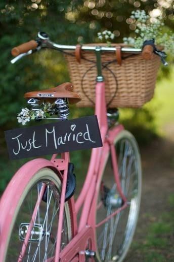 decoración bici novios