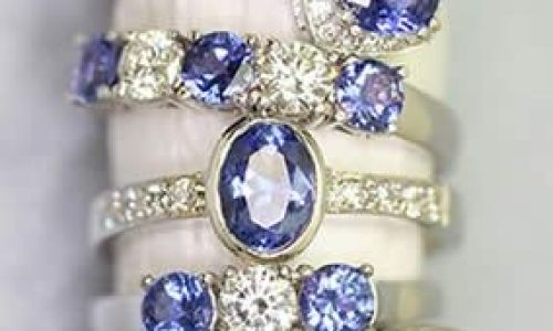 anillos pedida azules