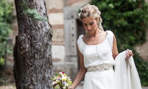 vestido de novia con cinturon