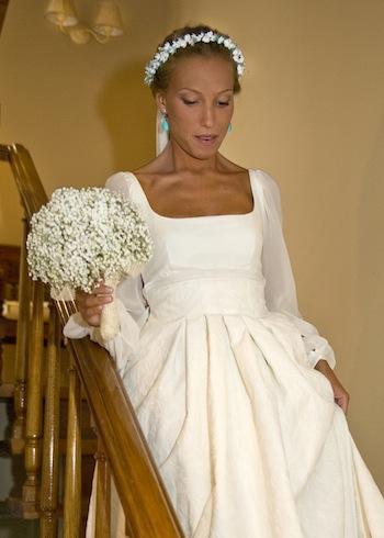 vestido novia escote cuadrado