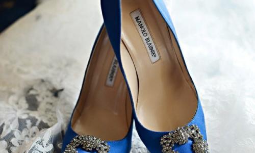 zapatos novia azules