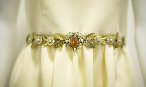 cinturón vestido de novia