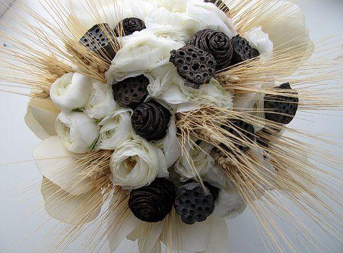 ramo novia con trigo