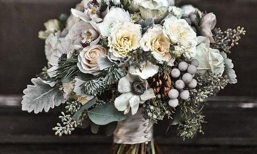 ramo novia tonos grises
