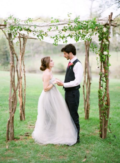 arco con hiedra boda