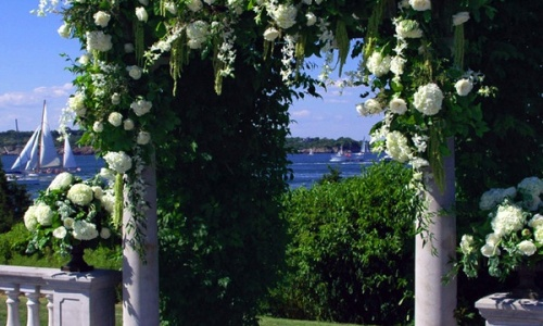 arco de flores boda civil