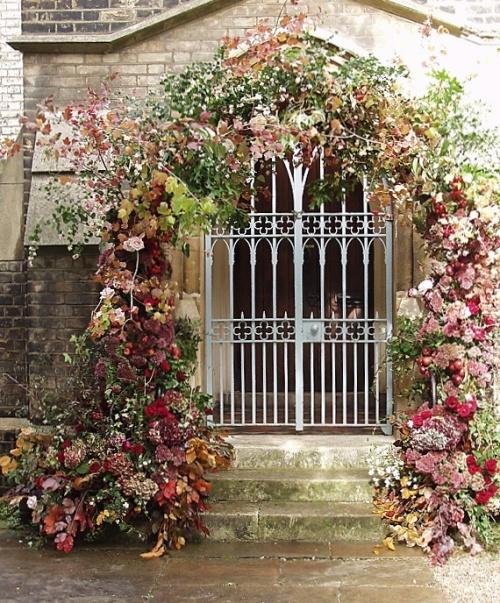 arco de flores otoñales