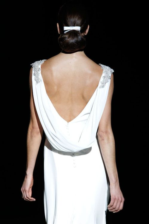 espalda vestido novia