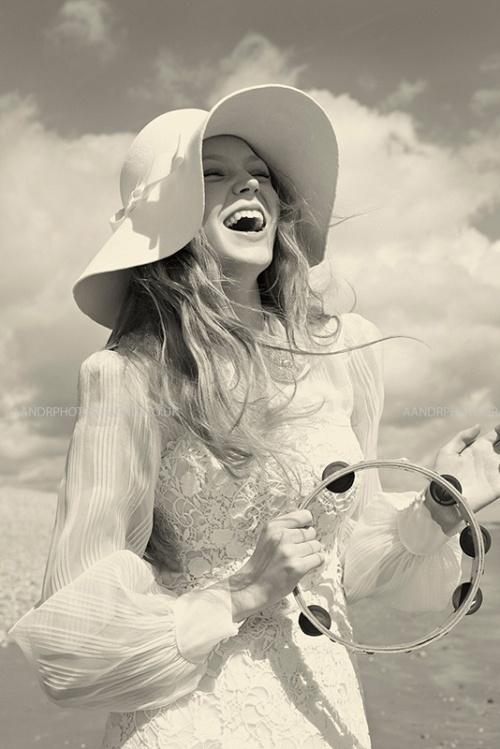 novia sombrero vintage