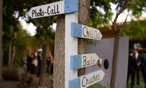 señalizador boda