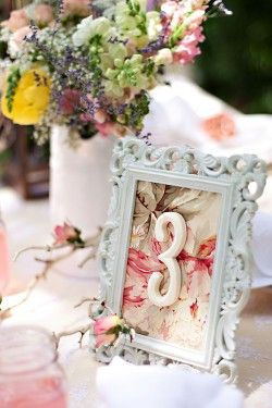 table number wedding