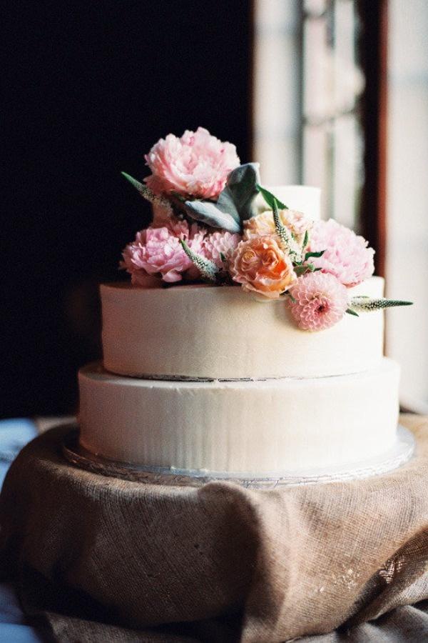 tarta con flores