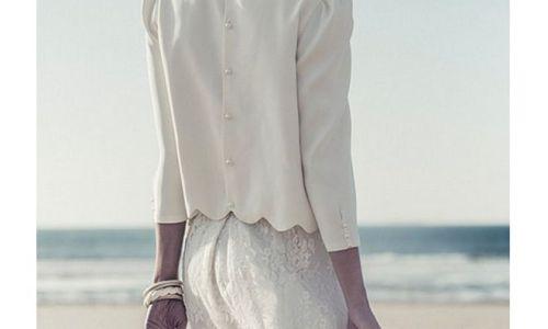 vestido de novia con camisa