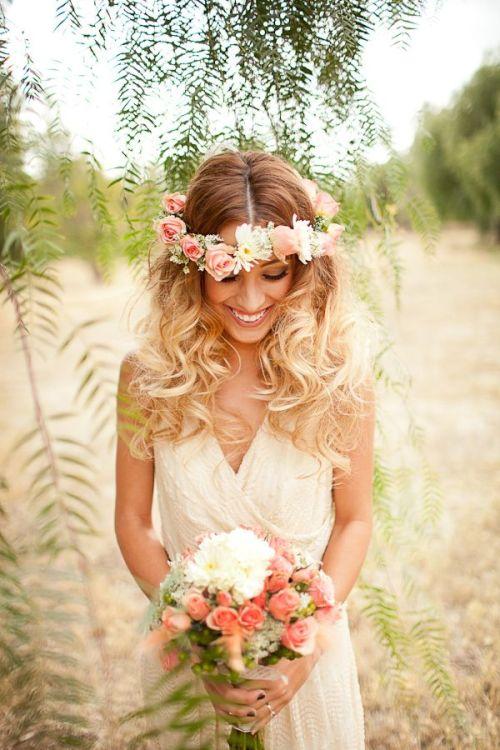 corona de novias romántcias
