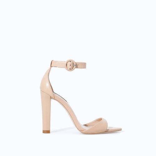 sandalia color rosa palo