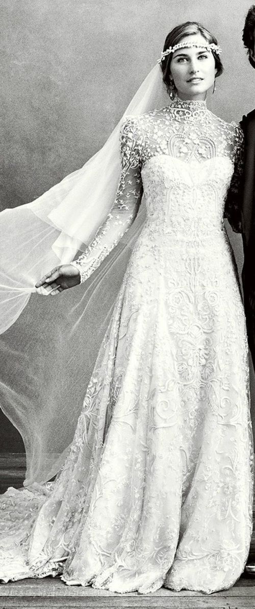 vestido de novia manga largag