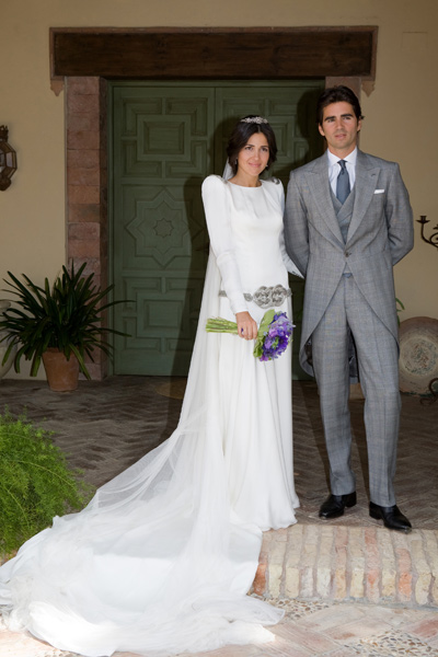 vestido novia colour nude