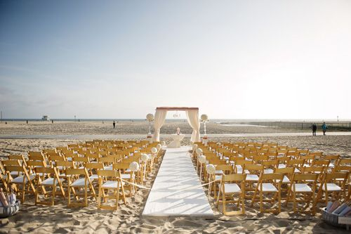 decoración boda en la playa
