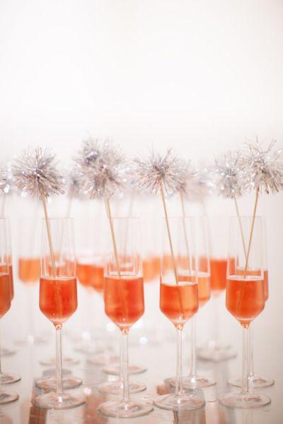 vasos champagne decoración