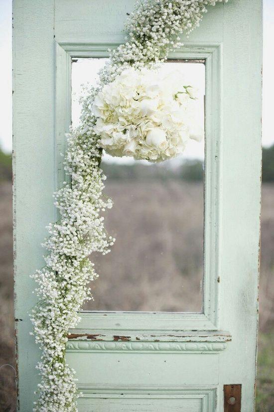 puerta decoración boda