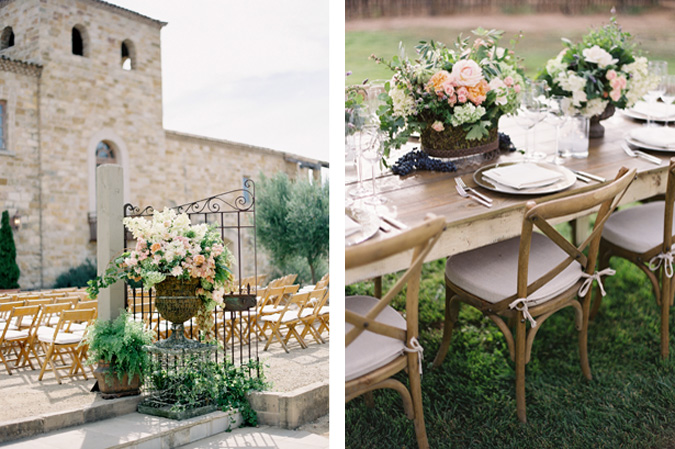 decoracion iglesia boda rustica table boda rustica campestre decoracion mesa flores en una nube
