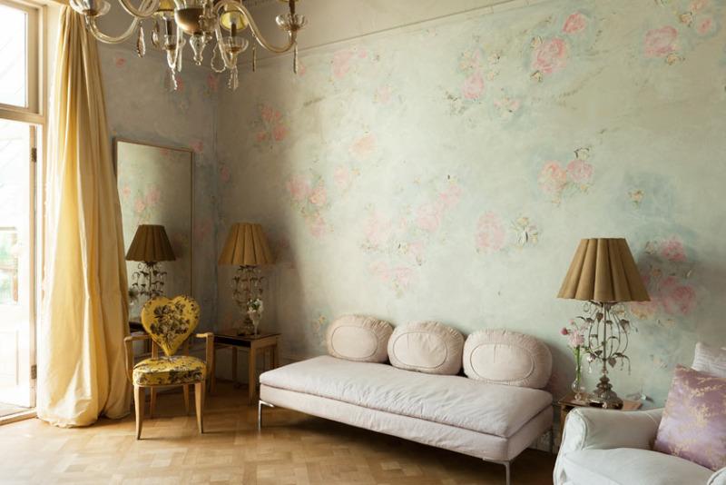 Decorar con papel pintado en una nube - Papeles pintados para salon ...